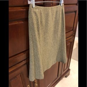 Casual Corner olive green tweed Aline skirt